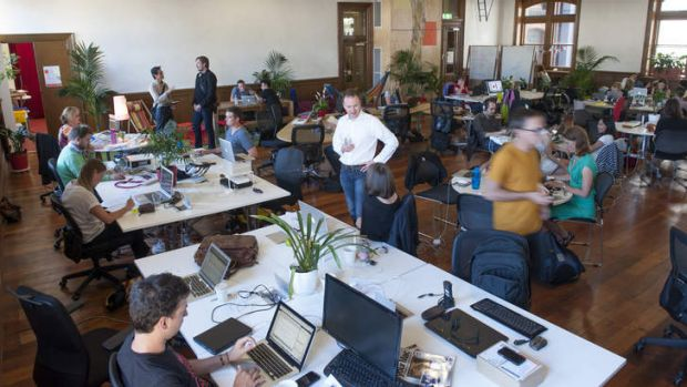 The Hub is a shared workspace that encourages collaboration between its members.