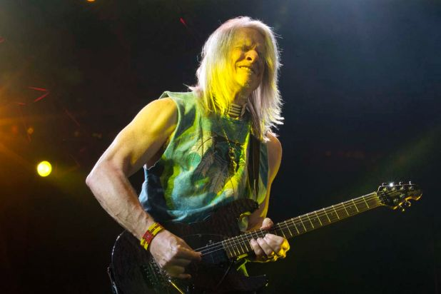 Deep Purple guitarist Steve Morse performs at the Brisbane Entertainment Centre.