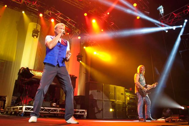Deep Purple lead vocalist Ian Gillan performs at the Brisbane Entertainment Centre.