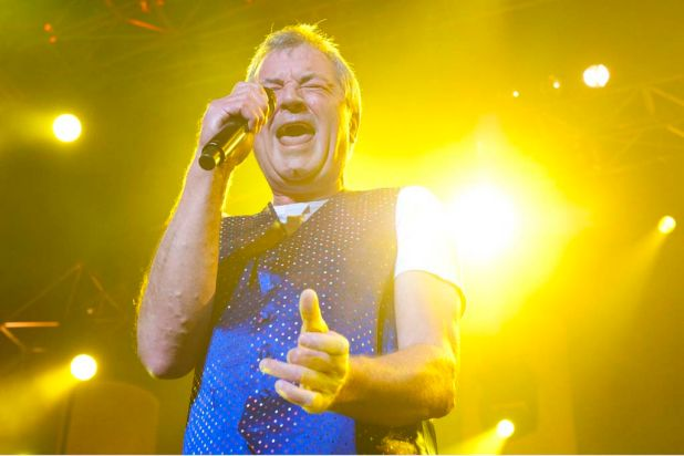 Deep Purple's Ian Gillan rocks out at the Brisbane Entertainment Centre.