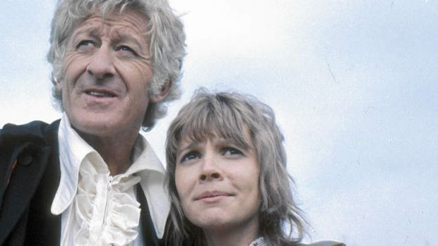 It takes two … the third Doctor, Jon Pertwee, with KatyManning.