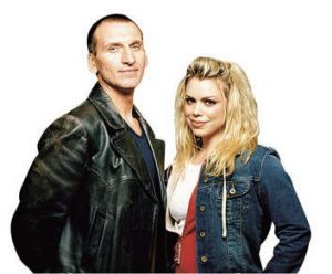 Magical mystery tourists … the ninth Doctor, Christopher Eccleston, with Billie Piper.