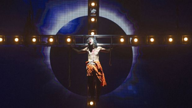 A scene from Jesus Christ Superstar by Andrew Lloyd Webber and Tim Rice.