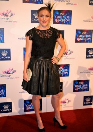 Olympic gold medalist Sally Pearson at 2012 VRC Oaks Club Luncheon.