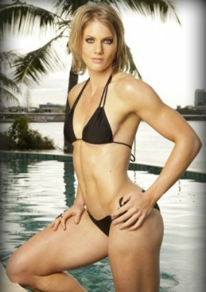 """Champion sprinter Mel Breen also models in her spare time but says her """"muscles and toned body"""" are for a niche market ..."""