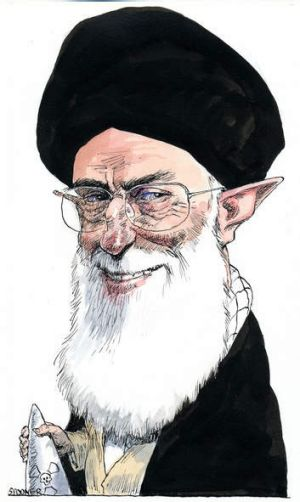 Ayatollah Khamenei: Controls the nuclear dossier.  Illustration: John Spooner.