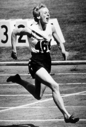 Betty Cuthbert seemed to have no trouble winning Olympic gold in her basic running gear.