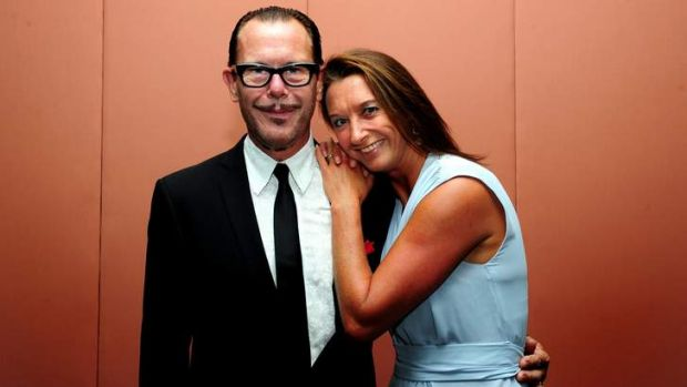 Layne Beachley with husband Kirk Pengilly.