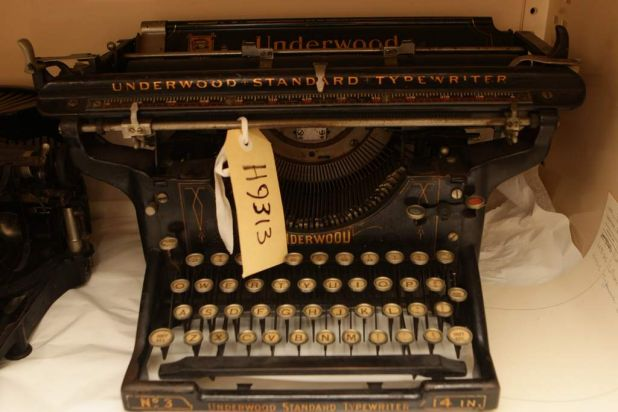 An Underwood Standard typewriter.
