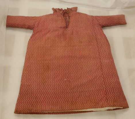 A boys cotton dress, from 1803, worn by the son of Samuel Marsden.