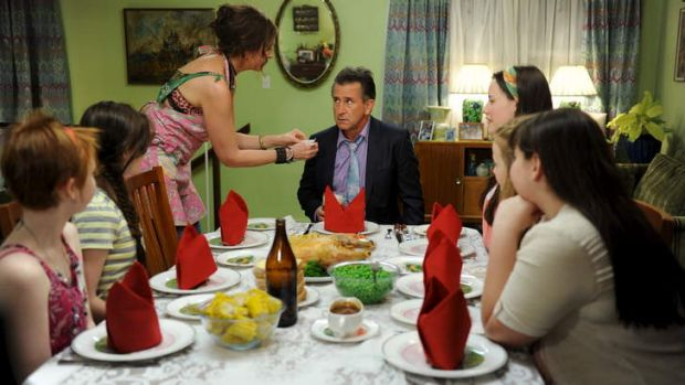 If looks could kill: Anthony LaPaglia, centre, featured as the head of a completely different  family in the movie ...