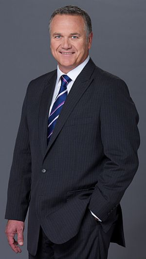 Seven newsreader Peter Mitchell.