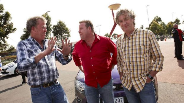Bloke party … Jeremy Clarkson, Shane Jacobson and James May will host the festival.