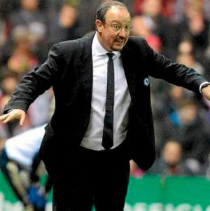 Fed up ... Rafael Benitez.