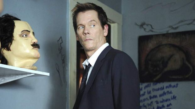 Kevin Bacon as Ryan Hardy in <i>The Following</i>.