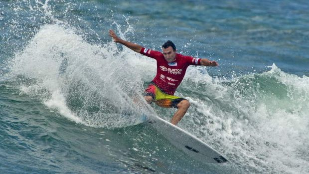 Defending his title: world surfing champion Joel Parkinson.