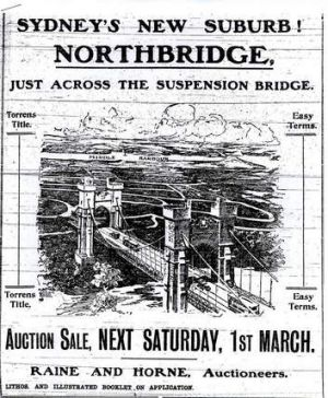 Advert from 1913 with the sale of building lots in Northbridge.