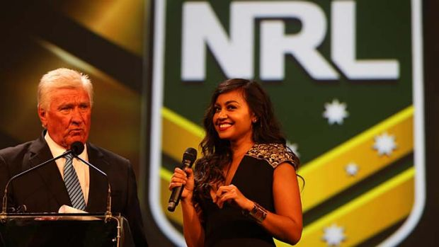 Launch ... Ray Warren and Jessica Mauboy.