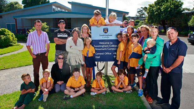 Beaumaris students and parents fight to go it alone.