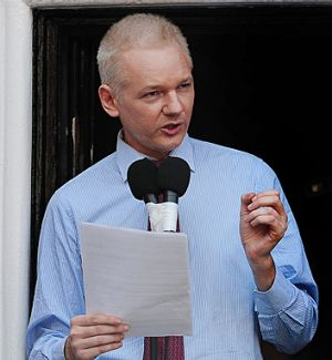 The WikiLeaks publisher remains at the Ecuadorian embassy in London, having been granted diplomatic asylum.