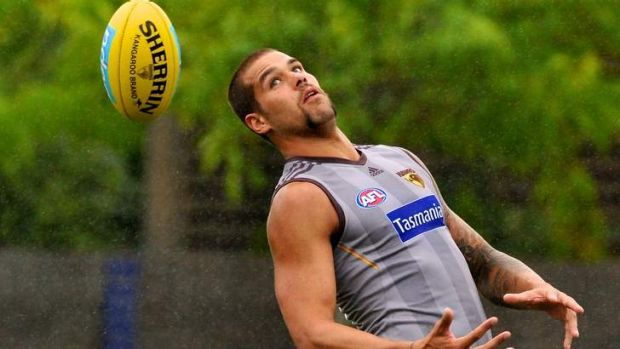 Incoherent ... Lance Franklin at training.