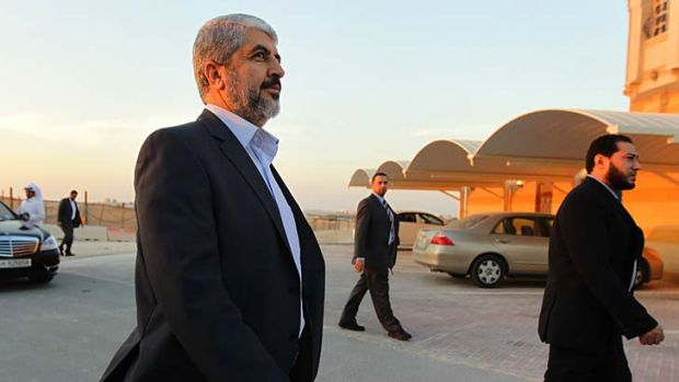 Man on a mission … Khalid Mishal with his security detail in Doha, Qatar. As the winds of change sweep through the ...