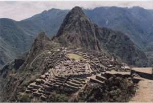 Hiking to Macchu Pichu in Peru ...