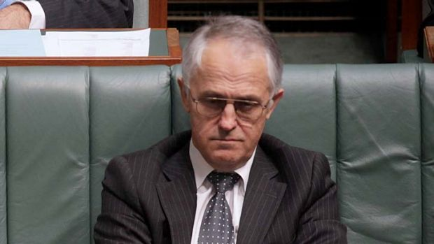 Gutted ... Malcolm Turnbull.