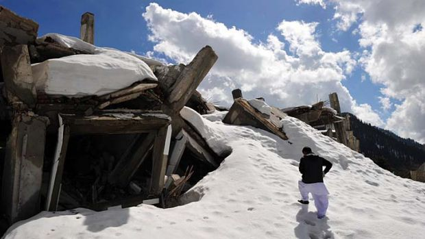 Destroyed ... the ruins of the Malam Jabba ski resort.
