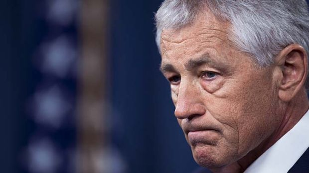 Controversial savings: Plans to cut federal spending will put US missions at risk, says Defence Secretary Chuck Hagel.