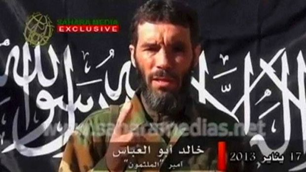 Killed by soldiers in Mali: Mokhtar Belmokhtar, still image taken from a video released by Sahara Media, is reportedly ...