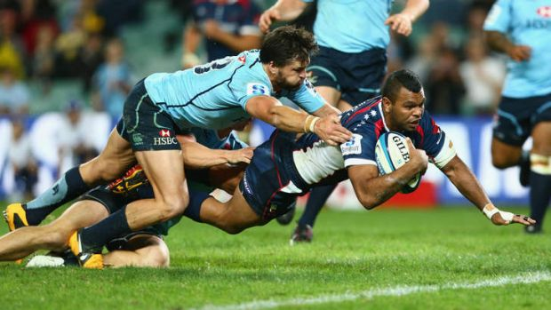 Troubled Rebel: Kurtley Beale has been stood down indefinitely from rugby after last weekend, adding punch-ups with his ...