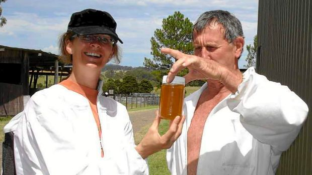 Anna Campbell and her beekeeping mentor, Rod Blatch.