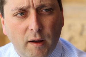 Planning Minister Matthew Guy was guest of honour at private dinners attended by developers.