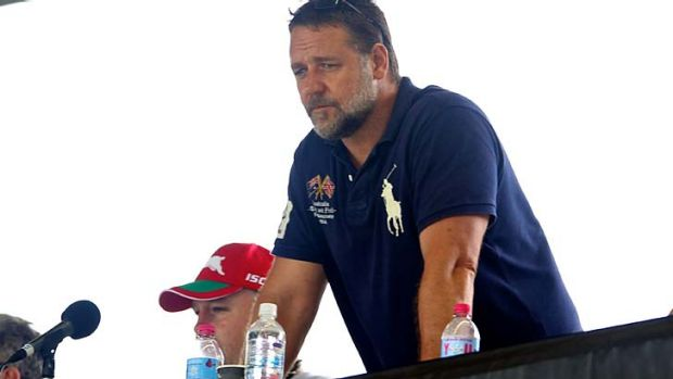 Staying put ... it seems Russell Crowe has reconsidered his decision to sell his stake in Souths.