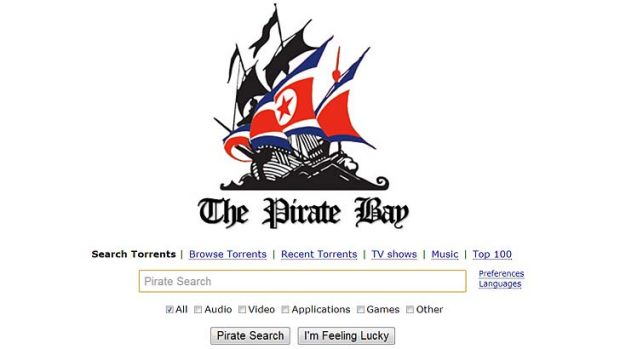 New logo ... The Pirate Bay is claiming it has been invited by North Korea to let users access its files from the ...