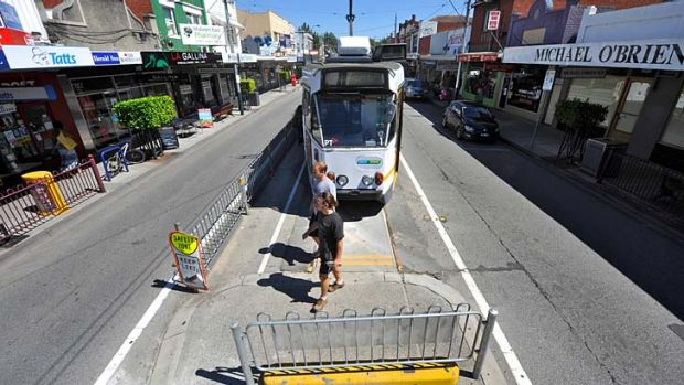 End of the line: The route three tram terminus is kilometres away from the Glen Waverley railway line and Chadstone ...