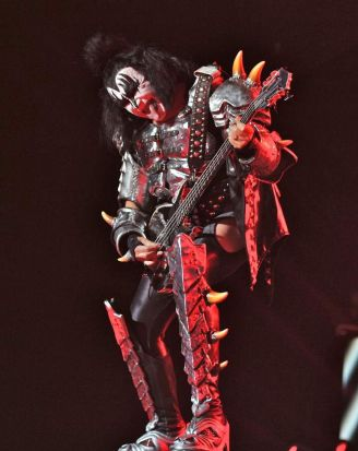 Gene Simmons from Kiss.