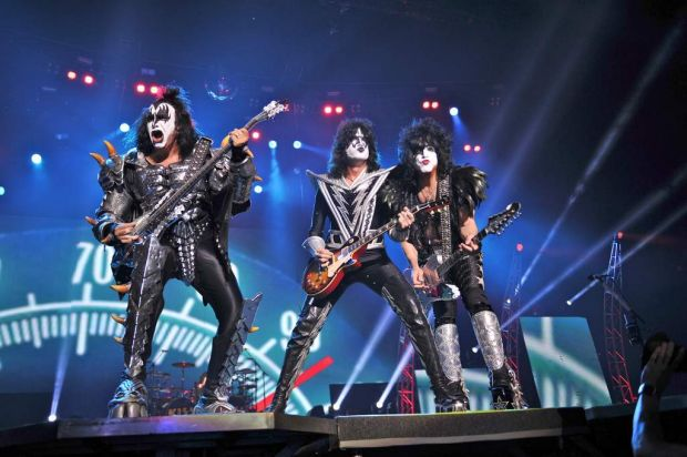 Kiss performs.