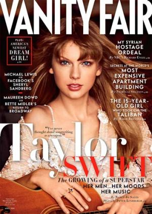 Cover girl Taylor Swift.