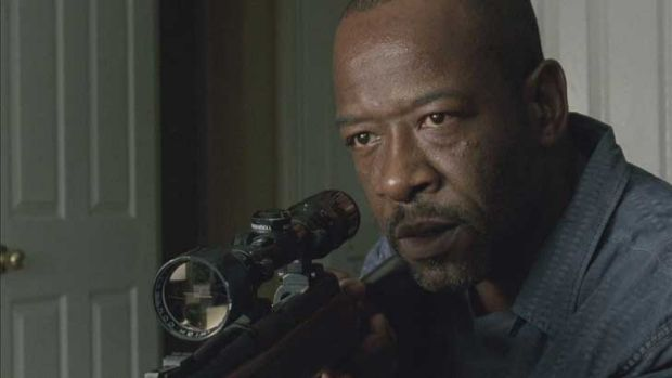 Should have taken the shot ... Morgan (Lennie James) unable to shoot his zombie wife in season one of <i>The Walking Dead</i>