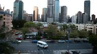 The Brisbane skyline as seen from the Story Bridge. 17th of October 2012. Photo: Harrison Saragossi