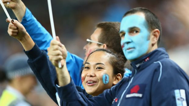 Feeling blue: Waratahs fans have hardly come out in force this season, despite the side's improved play.