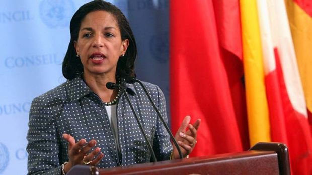 """Talking tough: The US ambassador to the UN Susan Rice says North Korea will be """"subject to some of the toughest ..."""