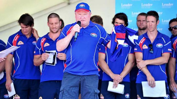Peter Gordon at the Western Bulldogs family day at Whitten Oval last month.