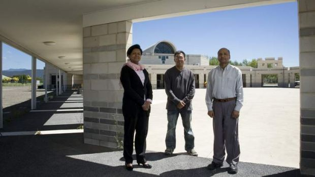 Canberra Islamic Centre president Azra Khan, project designer and planner Shamsul Huda and treasurer Ali Akbar are ...