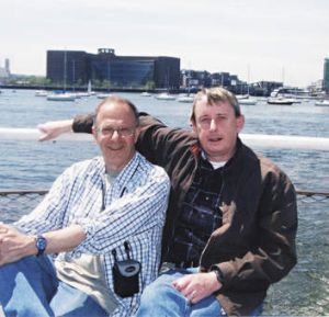 Soulmates … the author (at left) and Anthony Smith in 2005.
