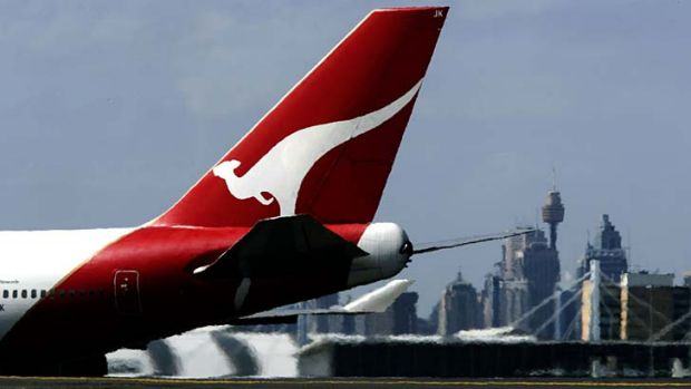 Modest result: Qantas has posted a thin profit in a tough market.