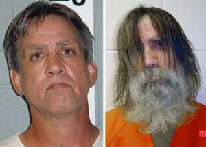 Neglected in solitary confinement: Stephen Slevin in 2005, left, and after his release.