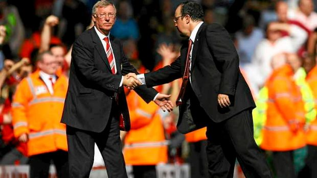 Talk to the hand: The love has never been too evident between Ferguson and Benitez.